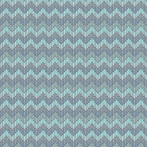 inuit chevron ocean whisper fabric by glimmericks on Spoonflower - custom fabric
