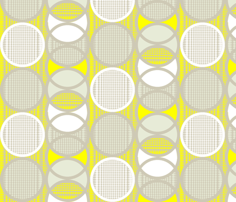 Circling around lemonade fabric by glimmericks on Spoonflower - custom fabric