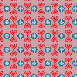 Hearts and flower