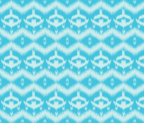 Ikat Blue fabric by curious_nook on Spoonflower - custom fabric