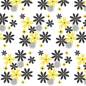black and yellow flowers