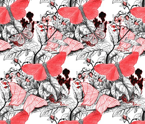 Moth_ridden_botanical___red__black___white_and_tight___peacoquette_designs___copyright_2017___update_shop_preview