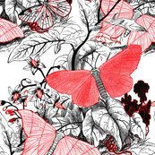 Moth_ridden_botanical___red__black___white_and_tight___peacoquette_designs___copyright_2017___update_shop_thumb