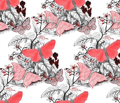 Moth_ridden_botanical___red__black___white___peacoquette_designs___copyright_2017___updated_april_2017_shop_preview