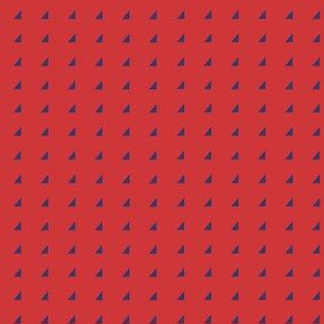 Tiny Triangles - Royal on Red