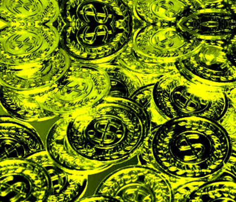 mardi-gras-coins-to-toss fabric by evon_the_great on Spoonflower - custom fabric