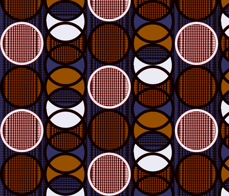 Circling_around_coffee fabric by glimmericks on Spoonflower - custom fabric