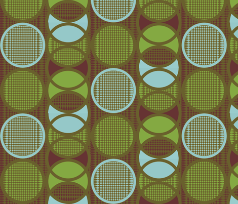 Circling around lilypond fabric by glimmericks on Spoonflower - custom fabric