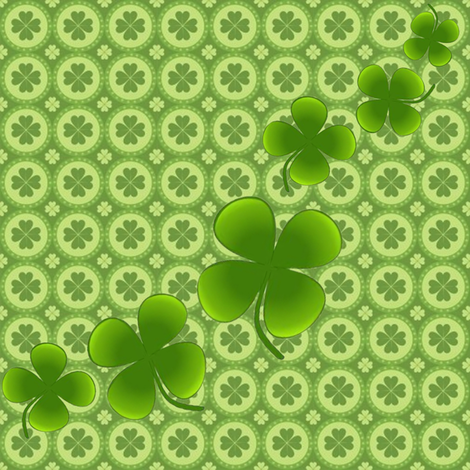 Irish shamrocks fabric by krs_expressions on Spoonflower - custom fabric