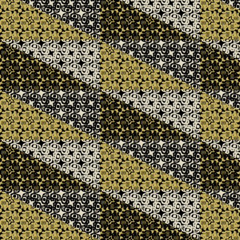 glyph bird dog mustard fabric by glimmericks on Spoonflower - custom fabric