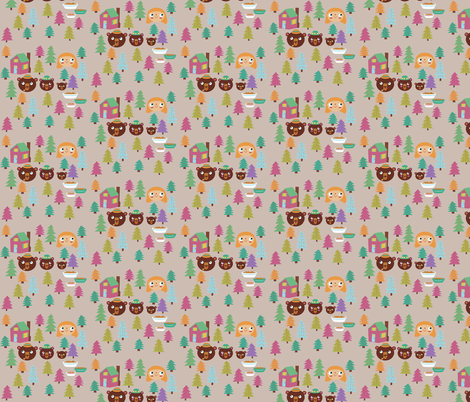 Goldilocks & The Three Bears fabric by heidikenney on Spoonflower - custom fabric