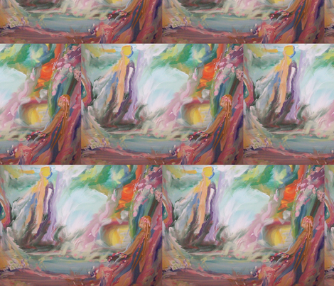 Ladies by the pool fabric by myartself on Spoonflower - custom fabric
