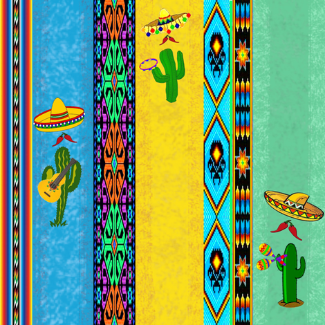Mexican fabric by krs_expressions on Spoonflower - custom fabric