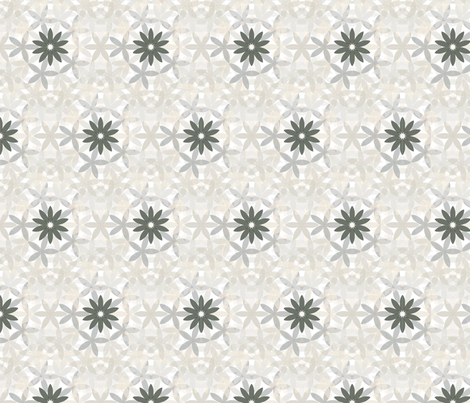 Flower shaddow lattice fabric by danielleonfire on Spoonflower - custom fabric