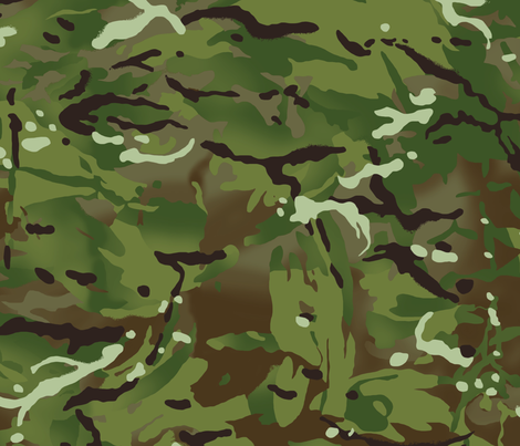British Multicam Multi Terrain Pattern 'MTP' Camo fabric by ricraynor on Spoonflower - custom fabric