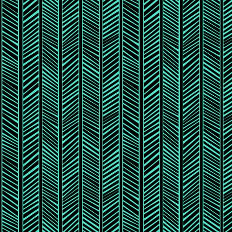 Teal Chevron fabric by pond_ripple on Spoonflower - custom fabric
