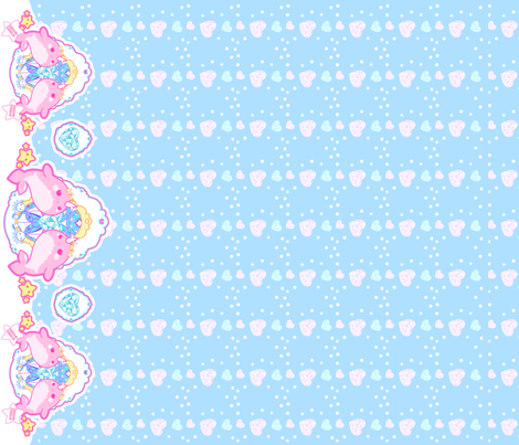 Princess Narwhal: Blue fabric by dreamcircus on Spoonflower - custom fabric