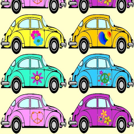 hippie cars fabric by krs_expressions on Spoonflower - custom fabric