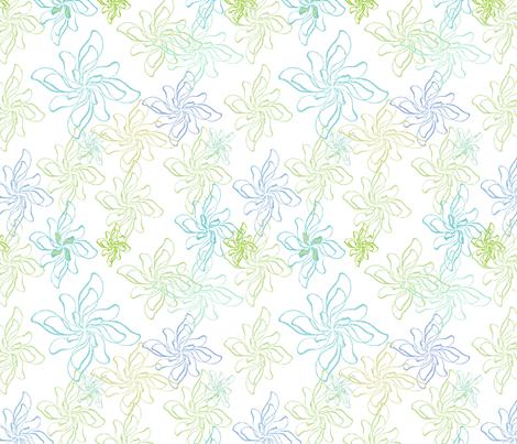 FlowerPrintTwistCool fabric by roxanne_lasky on Spoonflower - custom fabric