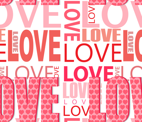 Love fabric by lesrubadesigns on Spoonflower - custom fabric