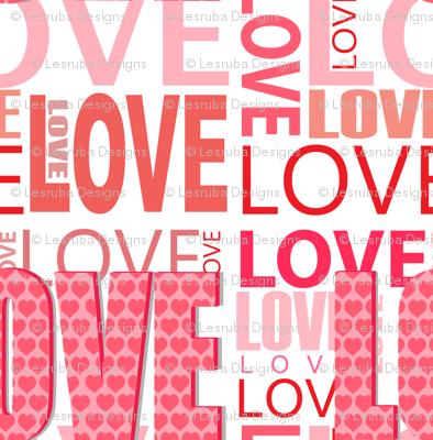 Pink Love Word Design