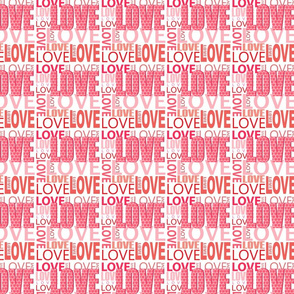 Pink Love Word Design