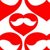 Mustache inside Red Heart