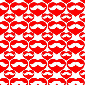 Mustache inside Red Heart