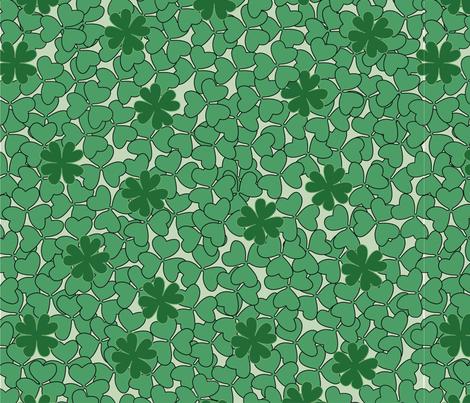 Clovers fabric by jessysantos on Spoonflower - custom fabric