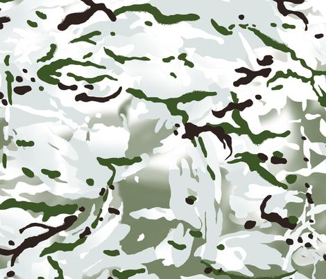 British Multicam Multi Terrain Pattern 'MTP' Snow Variation Camo fabric by ricraynor on Spoonflower - custom fabric