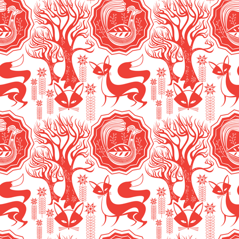 Lucky Foxy fabric by spicysteweddemon on Spoonflower - custom fabric