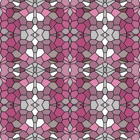Ornamental Tiles  - Pink fabric by telden on Spoonflower - custom fabric