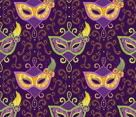 Laissez les bons temps rouler! fabric by jeaninemurch on Spoonflower - custom fabric