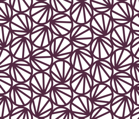 MARI - Crimson fabric by hitomikimura on Spoonflower - custom fabric