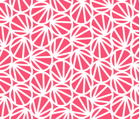 MARI - Coral Pink fabric by hitomikimura on Spoonflower - custom fabric