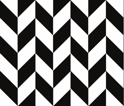 Black-White_Herringbone fabric by gates_and_gables on Spoonflower - custom fabric