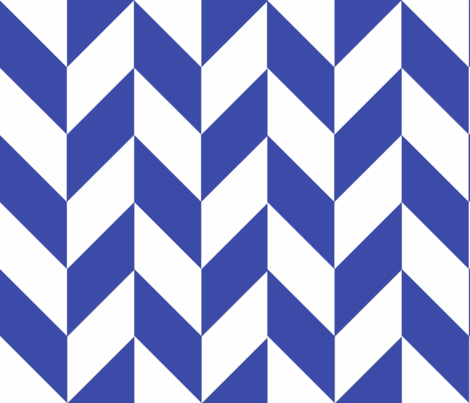 Blue-White_Herringbone fabric by megankaydesign on Spoonflower - custom fabric