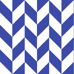 Blue-White_Herringbone