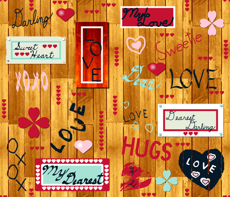 lovely_words_bright_5 fabric by khowardquilts on Spoonflower - custom fabric