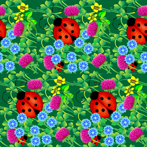 ladybugs fabric by krs_expressions on Spoonflower - custom fabric