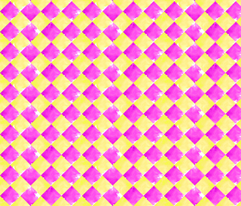 Jester Pink and Yellow fabric by sara_berrenson on Spoonflower - custom fabric
