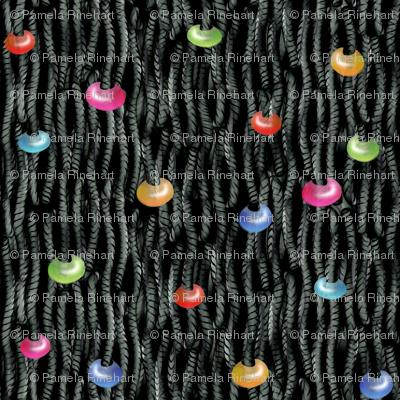 Loose Knit YARN_TANGLE Beaded Black
