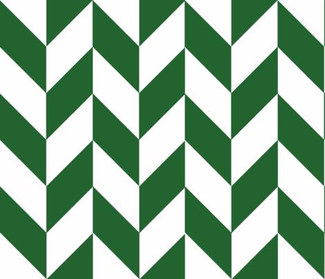 Green-White_Herringbone fabric by gates_and_gables on Spoonflower - custom fabric