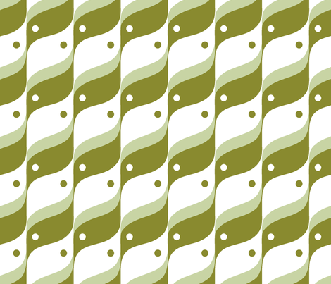 BIRD - Mint and Olive fabric by hitomikimura on Spoonflower - custom fabric