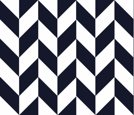 Navy-White_Herringbone fabric by gates_and_gables on Spoonflower - custom fabric
