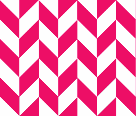 Pink-White_Herringbone fabric by gates_and_gables on Spoonflower - custom fabric