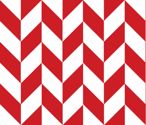 Red-White_Herringbone fabric by gates_and_gables on Spoonflower - custom fabric