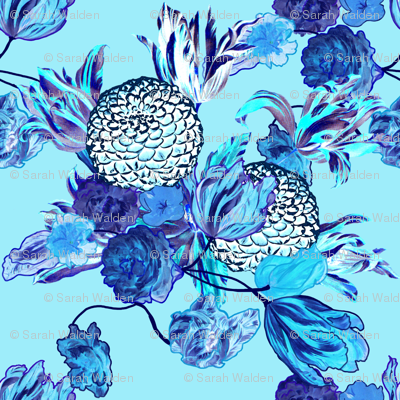 Blueming Flowers! ~ Turquoise