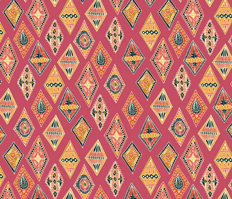 Desert Diamonds fabric by joyfulroots on Spoonflower - custom fabric