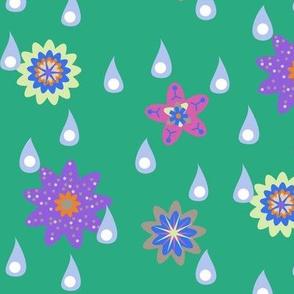 Rain and Fairy Flowers - Spring